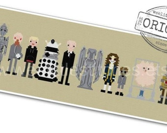 Doctor Who - Villains, Monsters, & Aliens - The *Original* Pixel People - PDF Cross-stitch Pattern