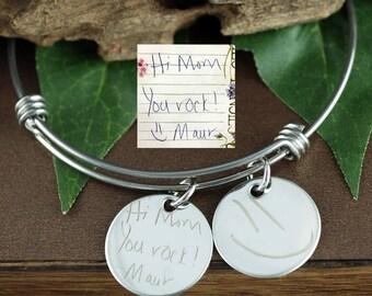 Kids Actual Drawing Bracelet, Handwriting bracelet, Actual writing, Personalized Gift, Actual Artwork, Keepsake Gift, Gift for mom, Grandma