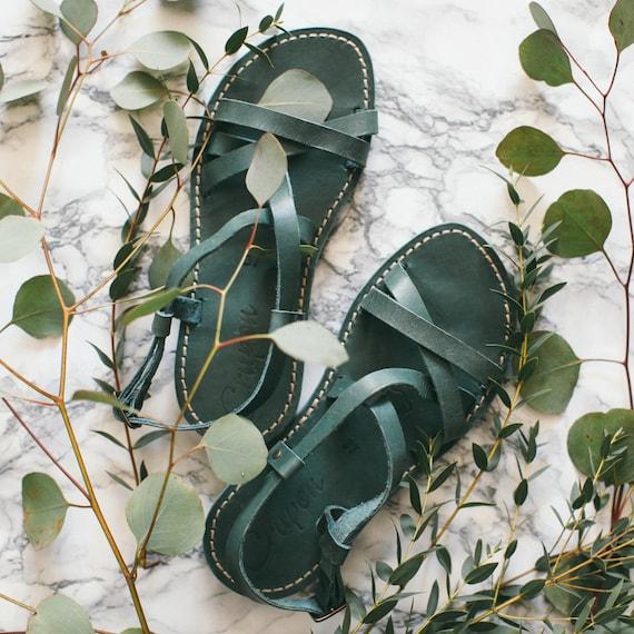 Leather Leather Sandals Greek Strappy Greek Turquoise Gladiator Sandals Sandals Summer Sandals Summer Sandals Sandals Sandals 7qXAXwOYx