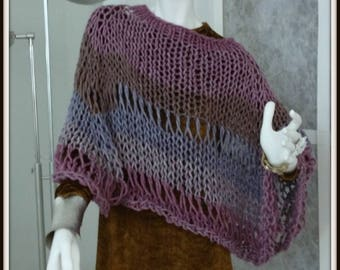SWEATER WOMAN KNITTED  Poncho Bulky