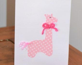 Pink Giraffe Card
