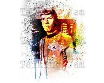 Instant download, Star Trek ART, printable, poster w00159