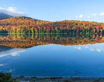 Landscape Photography, Autumn Photograph, Adirondack Print, Heart Lake, Adirondack Mountains, Adirondack Lake, Adirondack Decor, Fine Art