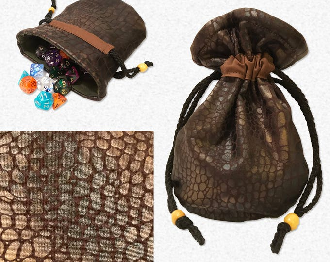 Dragon Skin Dice Bag / Dice Pouch  // Tabletop Gaming & Roleplaying Game //