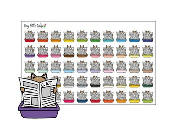 Planner Stickers Cat Litter Box