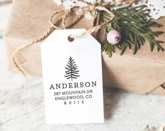 Custom Return Address Stamp With Trees, Wedding Address Stamp, Wedding Gift, Housewarming and Holiday Gift For Her, DIY Wedding Invitation,
