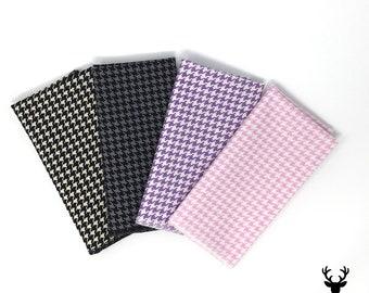 Mens Lavender Houndstooth Pocket Square Pink Pocket Square Purple Pocket Square Black Grey Pocket Square Handkerchief Boys Pocket Square