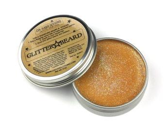 Glitter Beard Balm, organic beard oil, mustache wax, beard care, grooming, gag gift, glitter beard, beard glitter