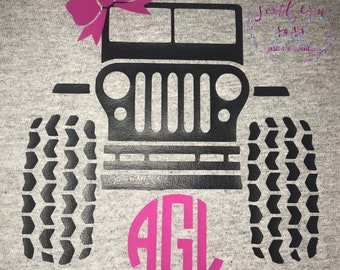 Monogrammed Jeep Shirt