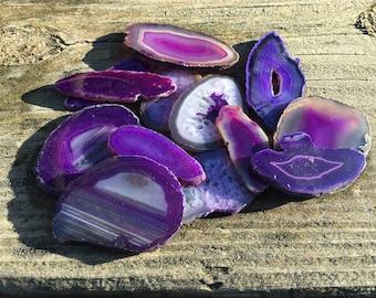 10 Purple Agate Slabs