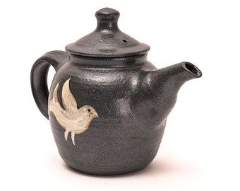 Handmade teapot, medium size, wood-fired
