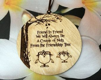 Friend Gift, Friend Ornament, Gift for Friend, Friend to Friend, Gift Tag, BFF