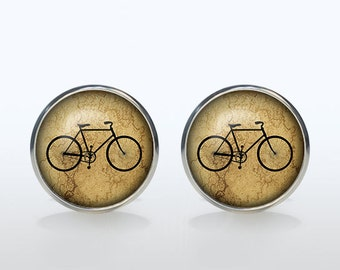 Vintage bicycle Cufflinks bike Cuff links hipster accessories personalized gift for boyfriend Christmas gift wedding cufflinks groom gift