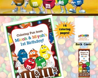 MnM Coloring Book with Crayons