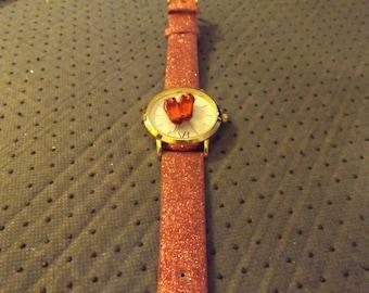 wizard of oz ruby slipper watch/handmade.