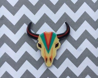 4pc. Southwest Longhorn Skull