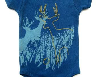 Gender Neutral Baby Clothes, Hipster Baby Clothes, Organic Onesie, Baby Boy Clothes, Baby Onesie, Organic baby, Deer, Organic Newborn onesie
