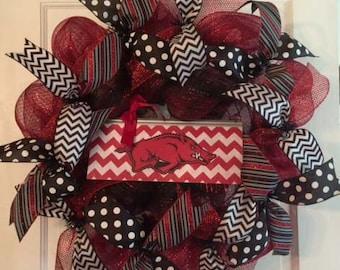 University of Arkansas Razorbacks Wreath