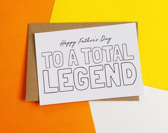 Legend Dad Card, Thank you Card, Father's Day Card, Dad Card, For Dad Card, Card for Dad, Papa Card, Pops Card, Funny Card, Legend card