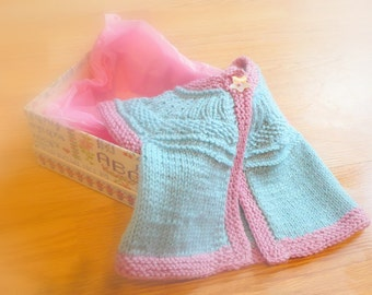 Knitting Pattern Cardigan -  Seamless Top Down Baby Girl Cardigan Jacket Sweater -  Seren a top down seamless yoked cardigan