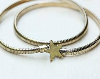 Star Belt Gold, Stretchy Belt, Metal Belt, Gold Belt, Belt Buckle, Coil Belt, Gold Metal Belt, Gold Stretch Belt, Dress Belt, Star Belt