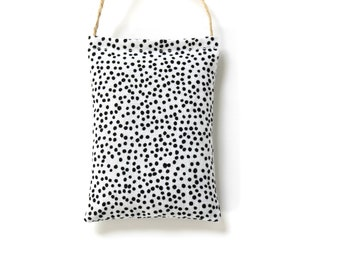 Car Air Freshener Lavender Sachet, Car Accessories for Women, Black and White Dots, Summer Outdoors