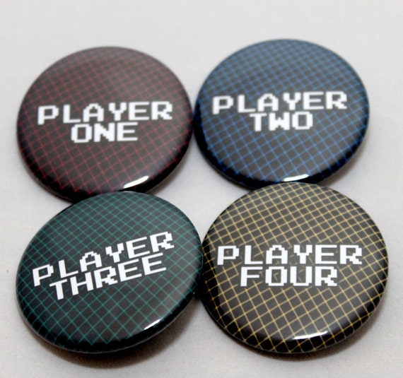 Player One, Player Two Pinback Set