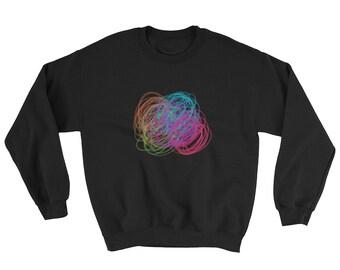 Custom Retro Neon Print Sweatshirt