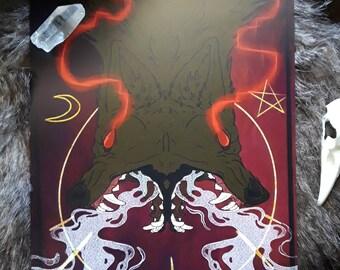 """10"""" x 8"""" Hellhound Wolf Print"""