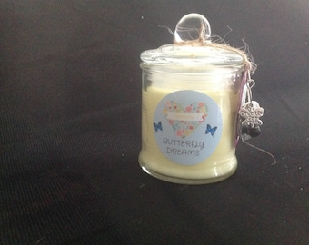 Small Hand Poured Soy Candle - Banana Scent