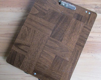 Vintage Faux Bois Clipboard with Compartment