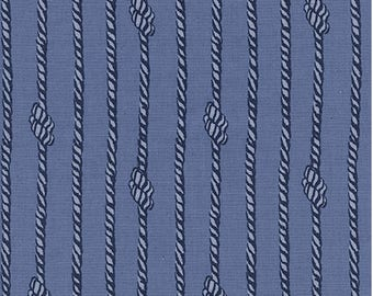 S.S. Bluebird in Tied In Knots Blue by Collaborative from Cotton and Steel - 1/2 yard