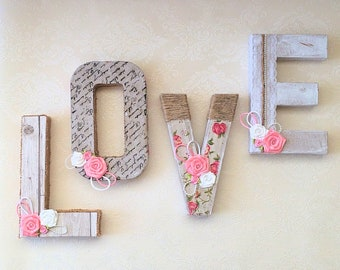 Personalised Shabby Chick Letters