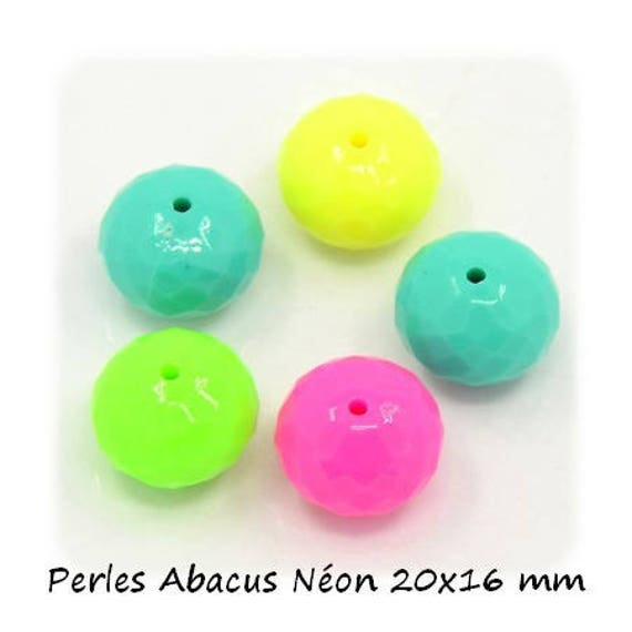 Pearl Abacus 20 x 16 mm x 1 [NeonColors]