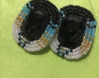 Beaded native earrings