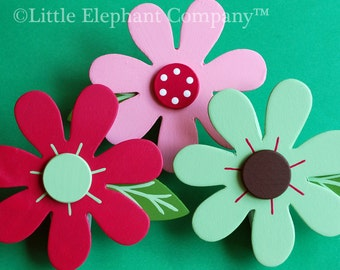 Ingrid Brights Daisy Quilt Clips - set of 3
