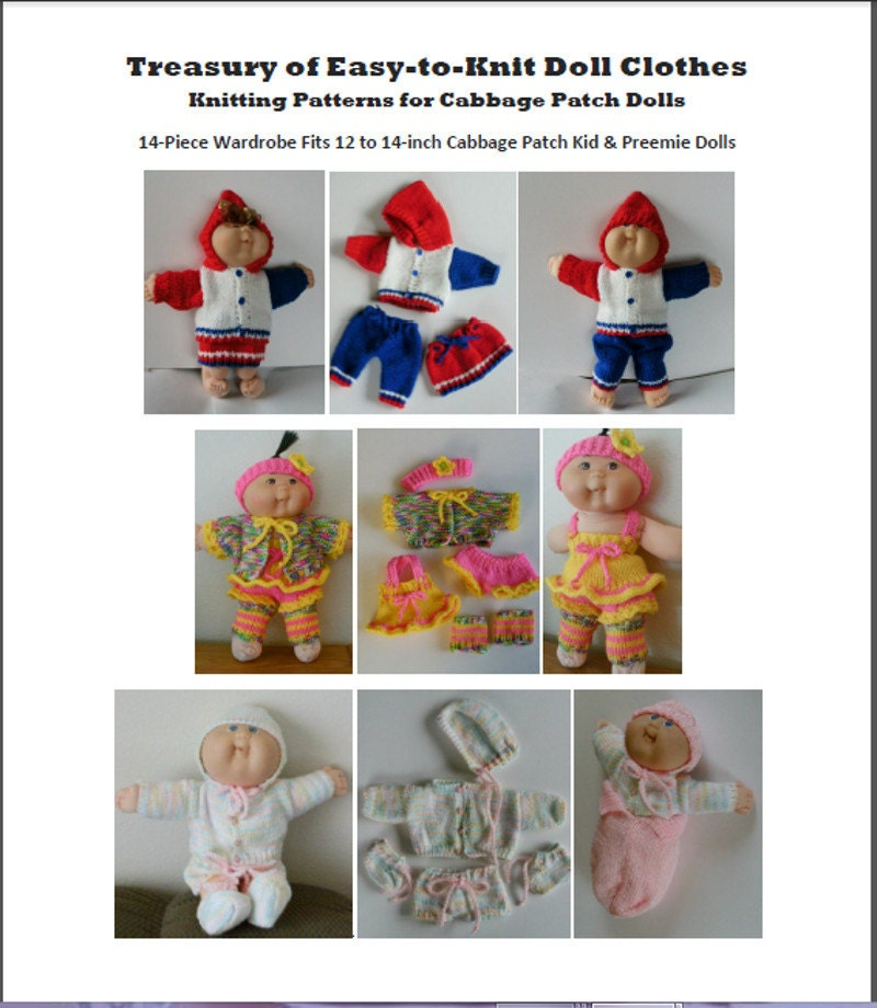 NEW KNITTING Pattern Treasury of Easy-to-Knit Doll Clothes Knitting ...