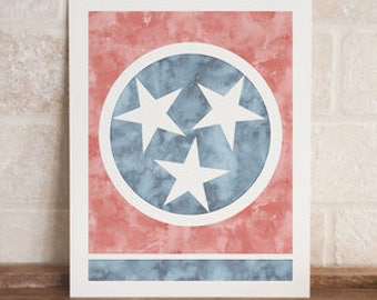 tennessee tristar watercolor print