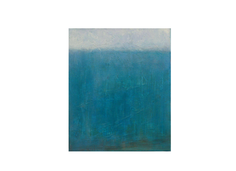 Tableau mer ciel oc an bleu turquoise blanc minimaliste for Tableau minimaliste
