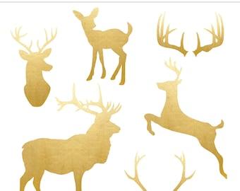 deer clip art etsy rh etsy com deer clip art profile pictures deer clip art profile pictures