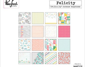 Pink Fresh Double Sided Paper 12X12 Collection Kit-Felicity