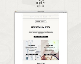 Mailchimp Email Template, Sales Responsive HTML email, Modern Photography Email Template, Newsletter Template, Unique template design