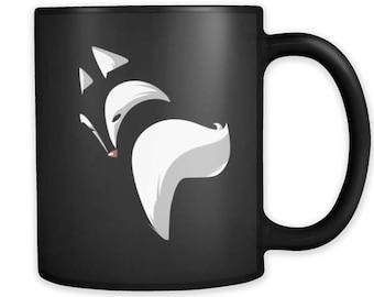 Fox Mug - Cute Fox black ceramic 11oz mug