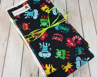 Baby Boy Burp Cloth Set - Monsters bugs