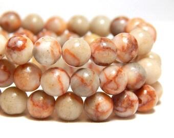 6mm Red Vein Jasper, Red Beads, Red Line Jasper, Red Marble Jasper, Gemstones, Round Gemstone Beads, Natural Beads, Stone Beads, B-30C