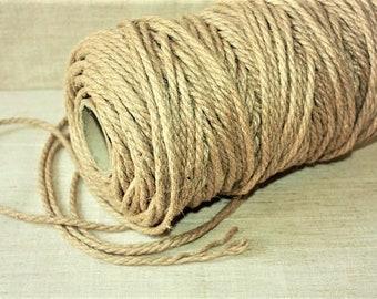 5 mm Jute Cord Natural = 65 Yards = 60 Meters - Wilde treasure - Jute Cord - Jute Macrame - Natural Color - Eco Friendly Jute Rope