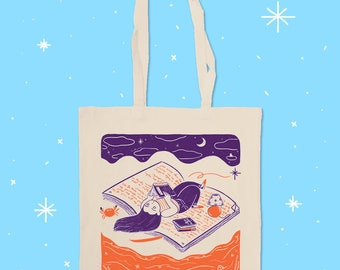 PRE ORDER Reading Space - Screen Painted Tote Bag by Marianna Madriz
