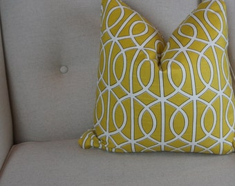 Mustard White Decorative Pillow Cover, Yellow Throw Pillow, Cushion Cover, Housewares Decor, Pillow Decor 0049