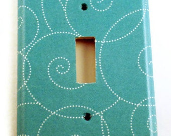 Switchplate Light Switch Cover Wall Decor Light Switchplates in  Turquoise Swirl (164S)