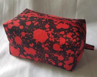 Blood Spatter Box Zipper Pouch